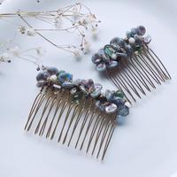 flower hair corm (M) / blue