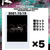 10/15 KANSAI ROCK SUMMチェキ5枚セット