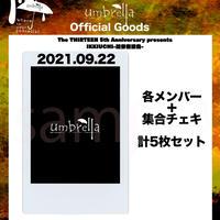 9/22 高田馬場PHASE  各メンバー&メンバー集合 計5枚セット