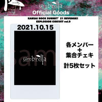 10/15 KANSAI ROCK SUMMI各メンバー&メンバー集合 計5枚セット