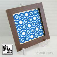 クロスステッチ彩糸図案「丸繋ぎ」