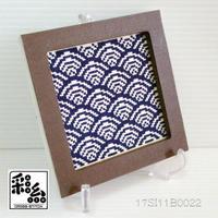 クロスステッチ彩糸図案「青海波」