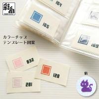 彩糸カラーチップ図案・猫