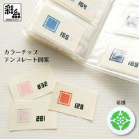 彩糸カラーチップ図案・花毬