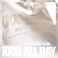 ''XXXL ALL DAY''JAPAN×KOREA フルジップパーカー ALL WHITE