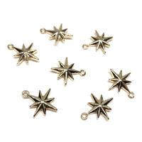 14A-65:真鍮チャーム・星 12*10mm  【2個】