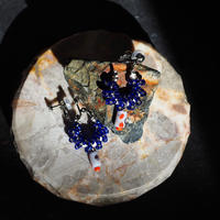 India grass pierce/earrings - capri blue-
