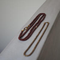 seeds double necklace - brick-