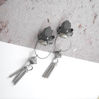 cement pierce/earring  GRAY