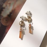 crystal pierce/earrings COPPER