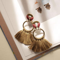 fringe pierce/earrings ROUGE
