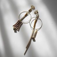 ivoly pierce/earrings BROWN