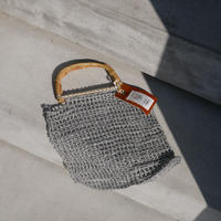 bamboo handle ami ami bag SILVER