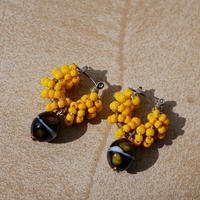 India grass pierce/earrings - mustard-