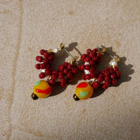 India grass pierce/earrings -azuki-