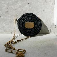 circle porch necklace-BLACK-