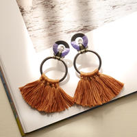 fringe pierce/earrings  LILAC