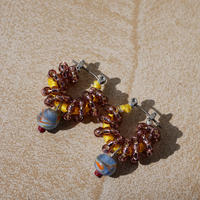 India grass pierce/earrings -grape-