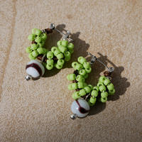 India grass pierce/earrings -kiwi-