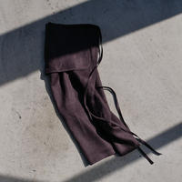 pocket wrap skirt -Carbon gray-
