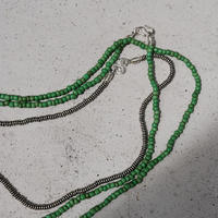 seeds double necklace second GREEN