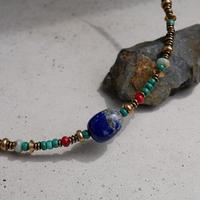 lapis lazuli short necklace