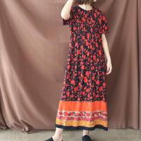 FLOWER RAYON DRESS