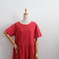 OLD LLBEAN COLLARLESS COTTON DRESS