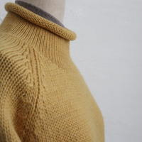 ROLL NECK WOOL KNIT SWEATER
