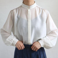 EURO PIPNG STAND COLLAR SEER BLOUSE