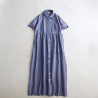 1980'S LINEN SHIRT DRESS