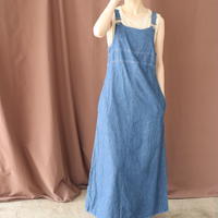 DENIM APRON SKIRT