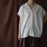 FRENCH SLEEVE ANTIQUE COTTON BLOUSE