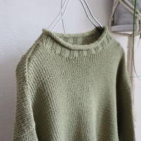 ROLL NECK HAND KNIT SWEATER