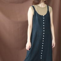 MANY BUTTON CAMISOLE DRESS