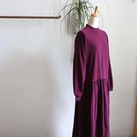 1980'S SWEAT FABRIC MOCK NECK COTTON DRESS