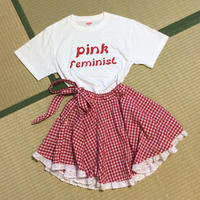 Pink Feminist Tee White Color