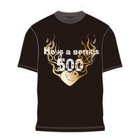 500試合出場記念Tシャツ TS01
