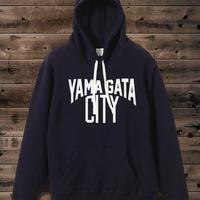 YAMAGATA CITY Sweat Pullover Parka-nvy