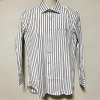 【在庫問い合わせ商品】ワイドカラーシャツ(ホワイトストライプ)
