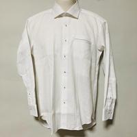 【在庫問い合わせ商品】ワイドカラーシャツ(ホワイトドビーチェック)