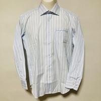 【在庫問い合わせ商品】ワイドカラーシャツ(サックスブルーストライプ)