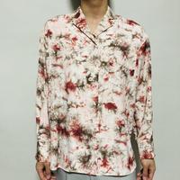 タイダイプリント オープンカラーシャツ