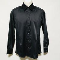 レギュラーカラータイトドレスシャツ(ブラック)