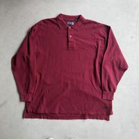90s FILA SPORT L/S Big Polo Shirt