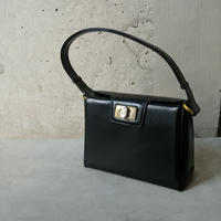 Old GUCCI Leather Hand Bag BLK