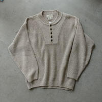80s~ Eddie Bauer Henry Neck Cotton Knit Pullover