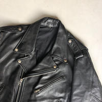 80s Old Leather Double Riders Jacket