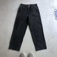 90s TOMMY HILFIGER Black Denim Pants