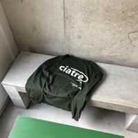 ciatre back logo tee L/S GRN